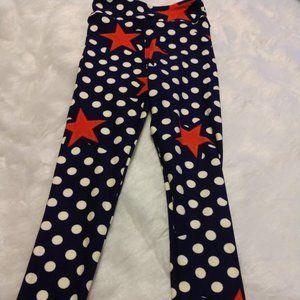 NWOT Lularoe Kid's Leggings S/M Navy w/stars